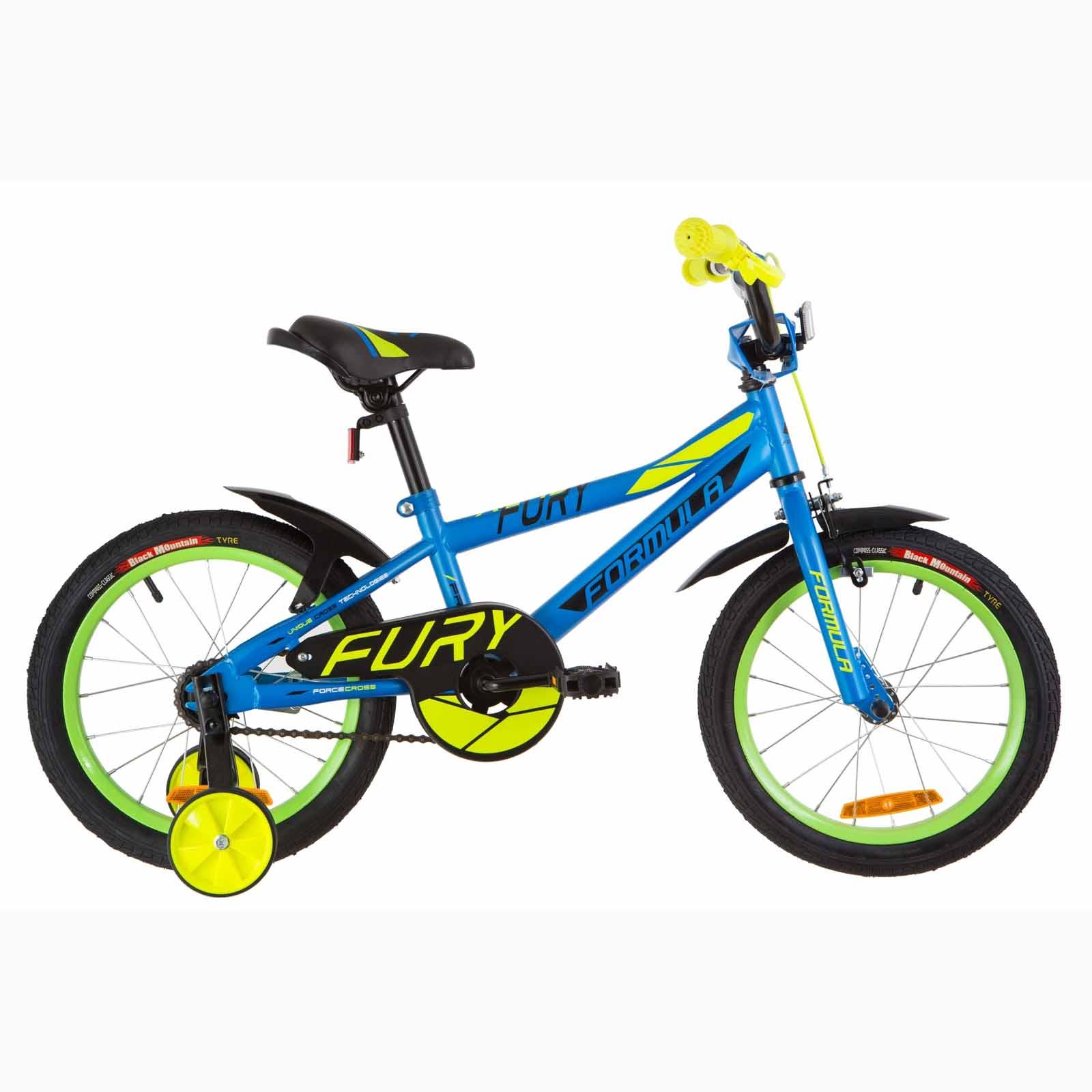 Фото Детский Велосипед 16 Formula FURY голубой с зеленым (м) 2019