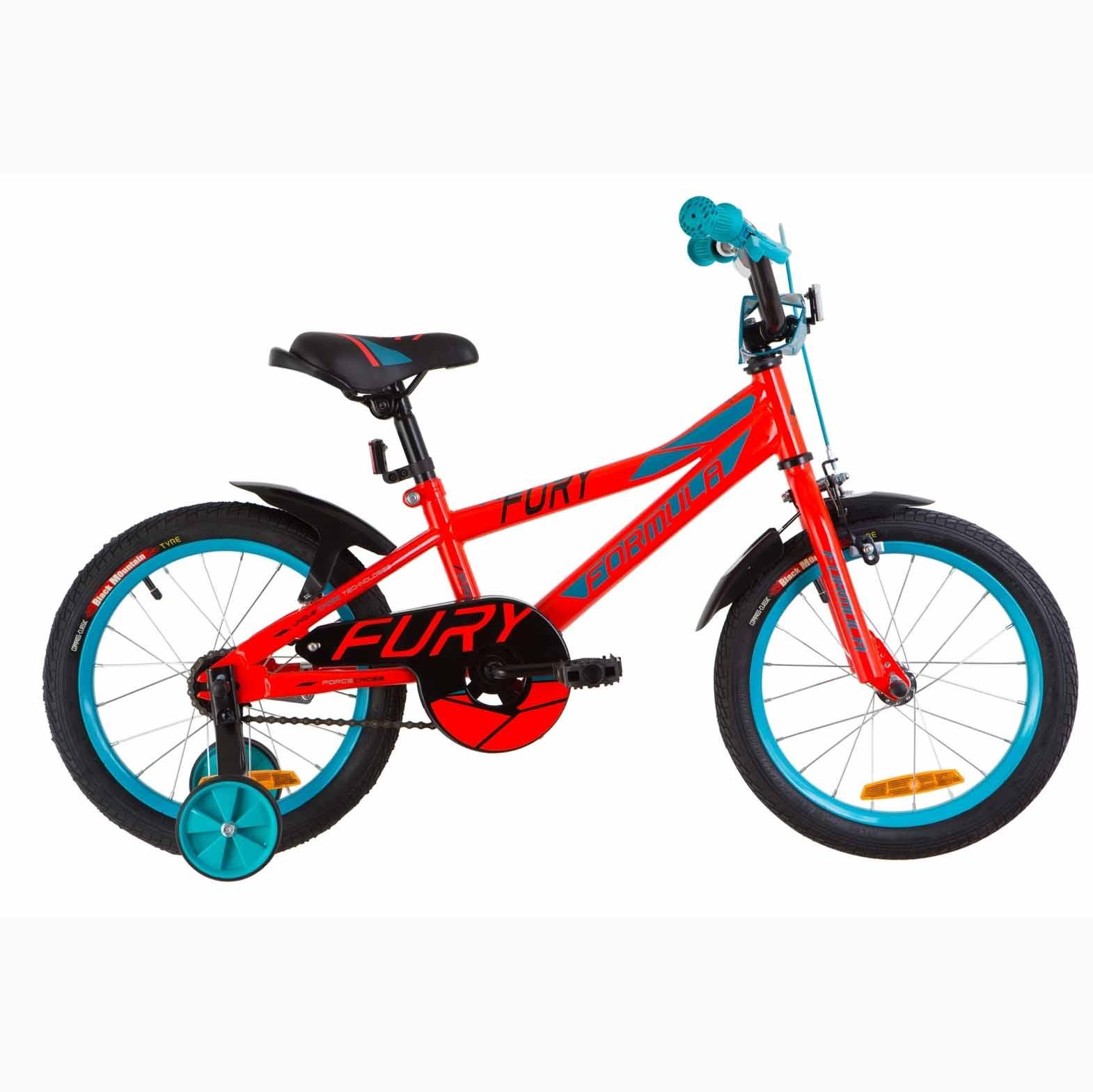 Фото Детский Велосипед 16 Formula FURY красно-бирюзовый 2019