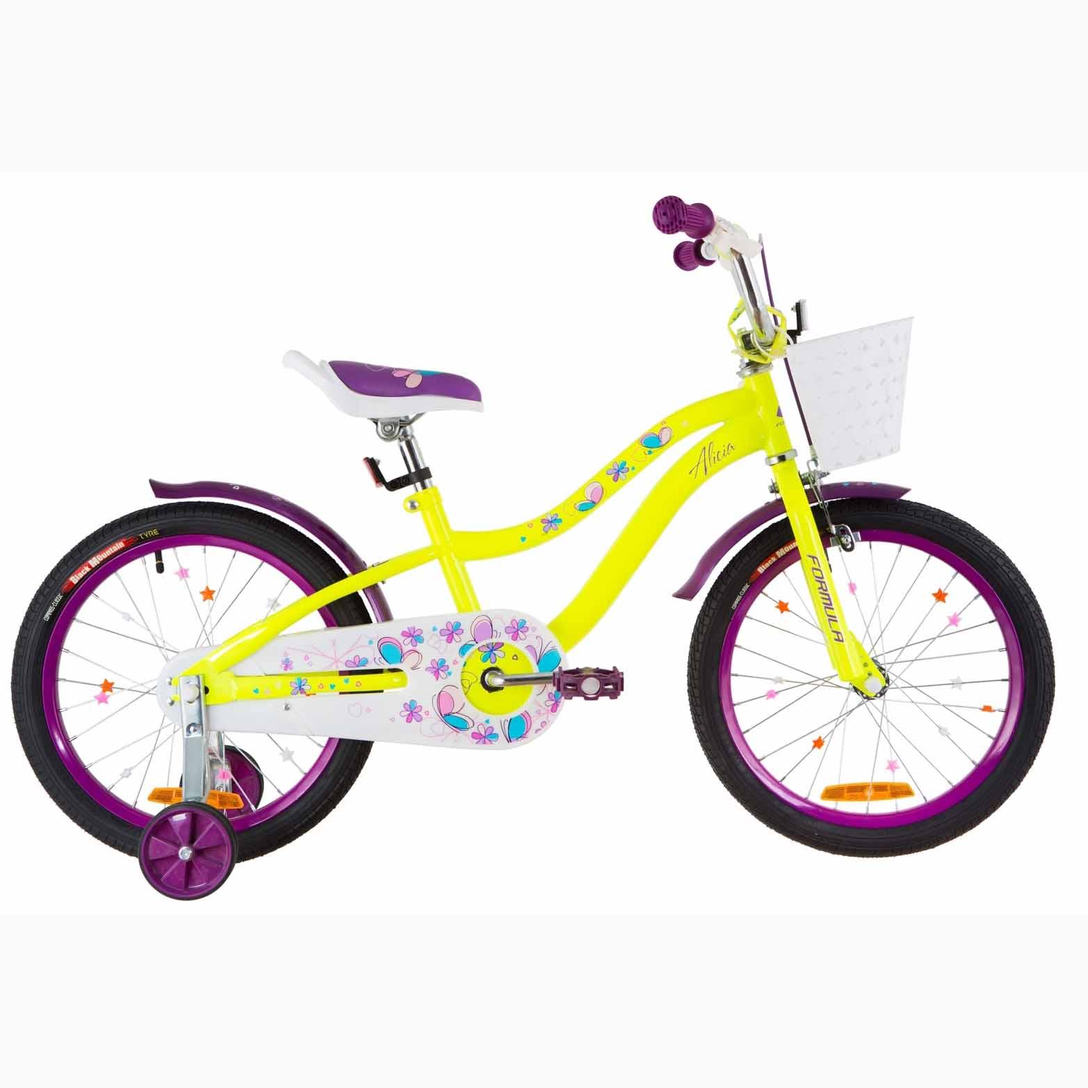 Фото Детский Велосипед 18 Formula ALICIA желто-фиолетовый 2019