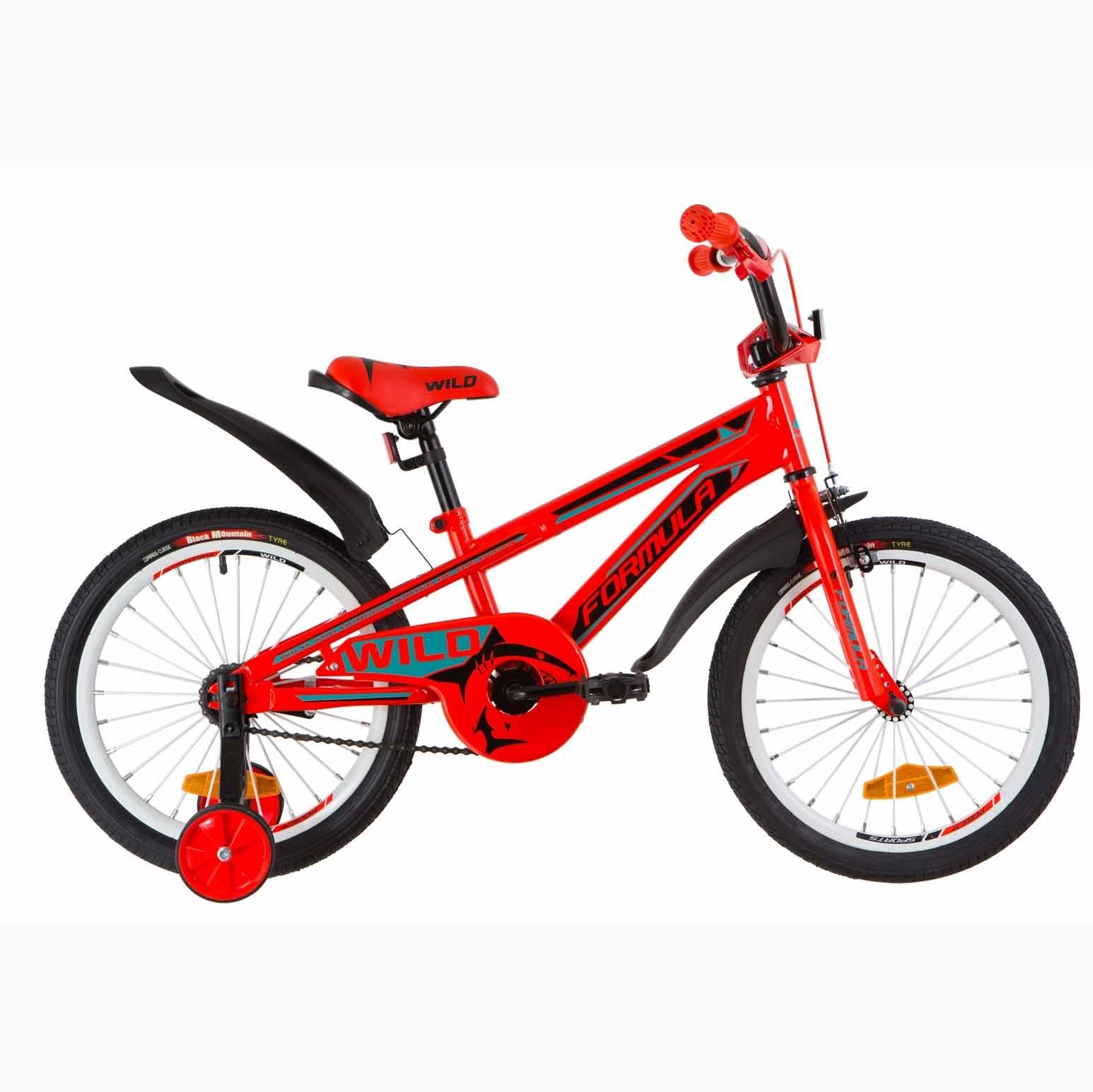 Фото Детский Велосипед 18 Formula WILD  усилен. бирюзовый с оранжевым  2019