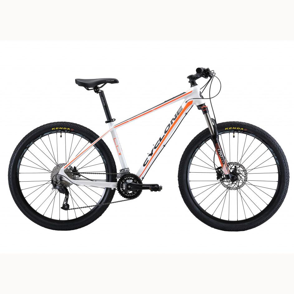 Фото Горный Велосипед Сyclone 27,5″ LLX-650b  15,5″ (бел-оранж-мат)