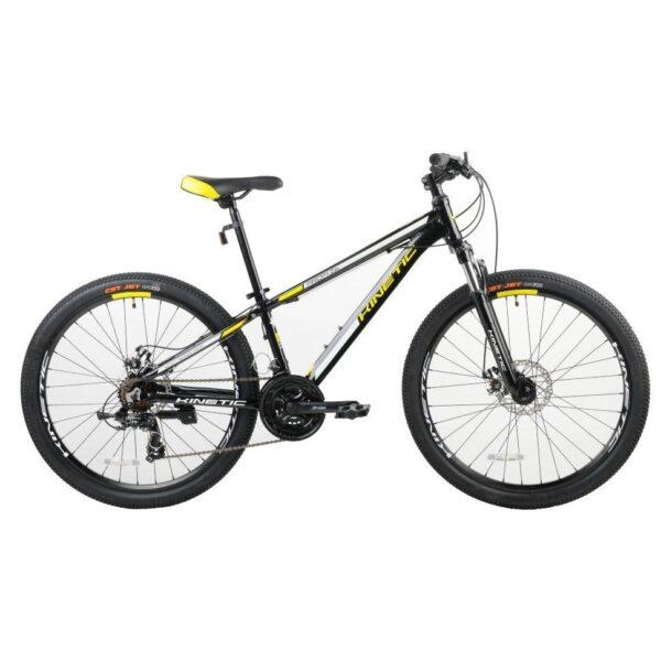 "Фото Подростковый  Велосипед Kinetic 26"" PROFI 13,5"" (черн-мат-желт)"