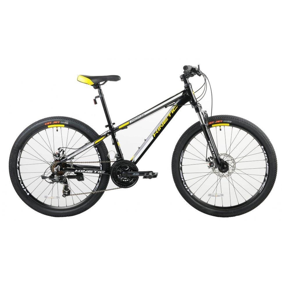 Фото Подростковый  Велосипед Kinetic 26″ PROFI 13,5″ (черн-мат-желт)