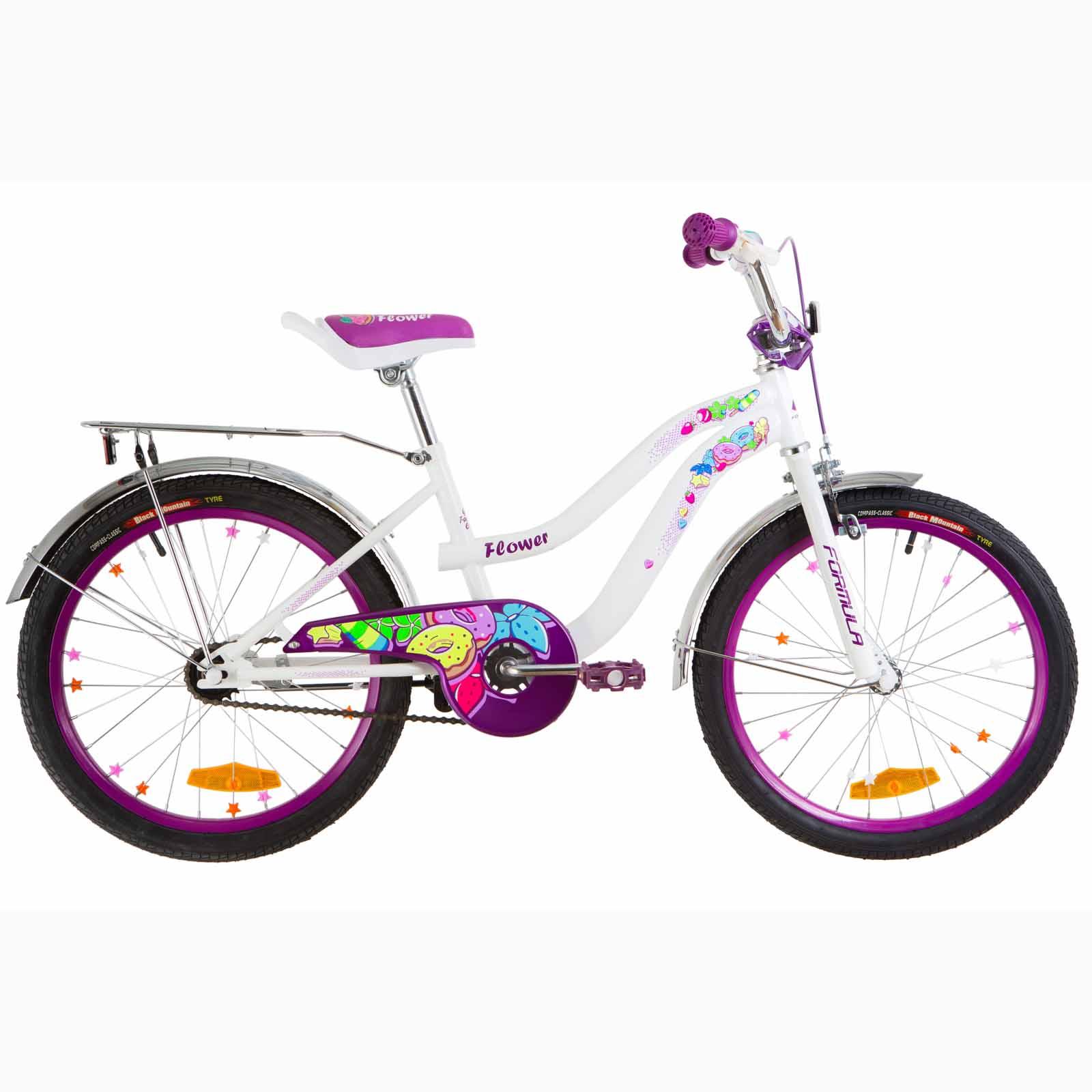 Фото Детский Велосипед 20 Formula FLOWER   бело-фиолетовый 2019