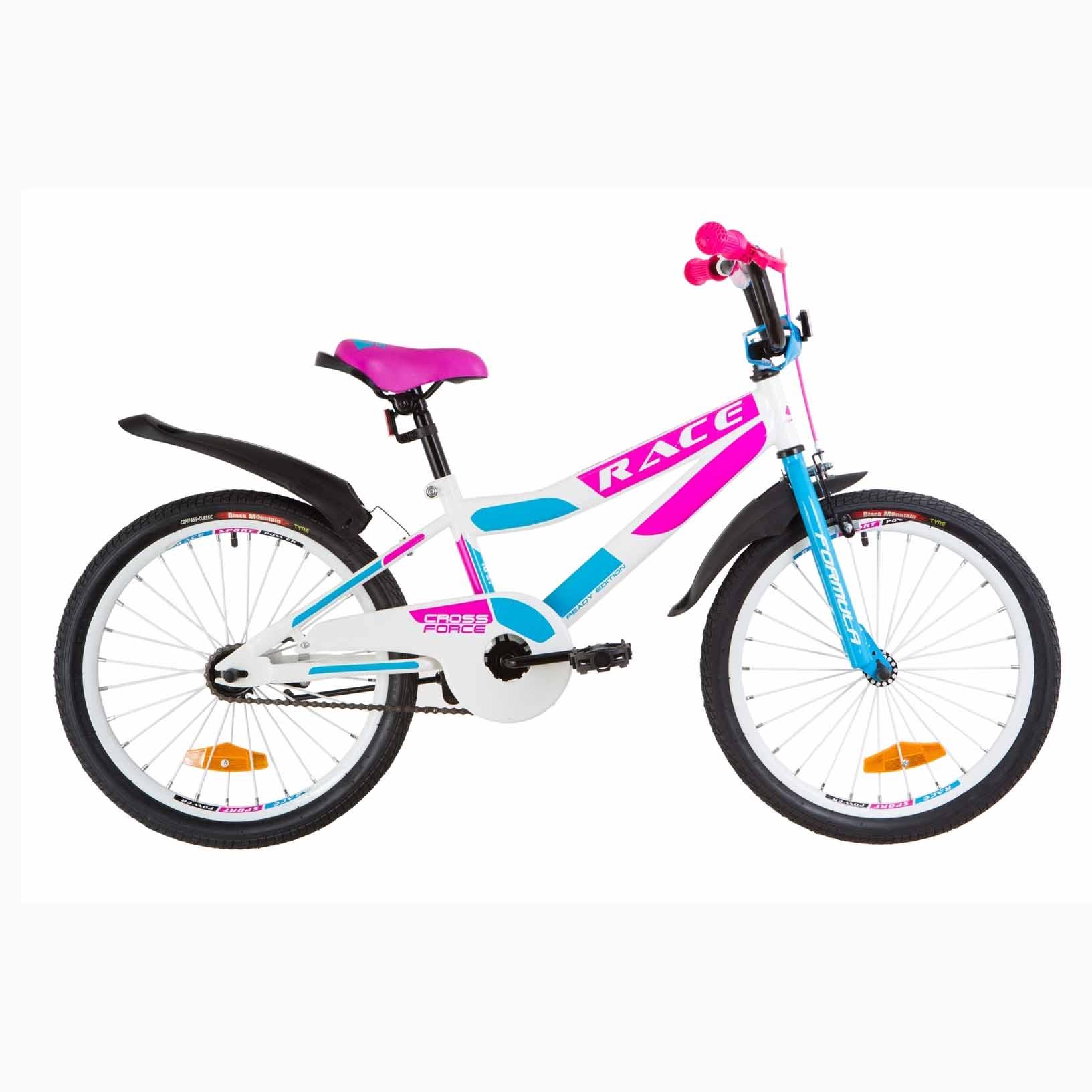 Фото Детский Велосипед 20 Formula RACE  усилен.  бело-голубой с малиновым  2019