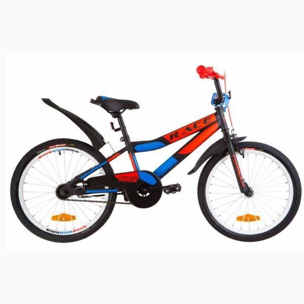 Фото Детский Велосипед 20 Formula RACE  усилен.  черно-оранжевый с синим (м)  2019