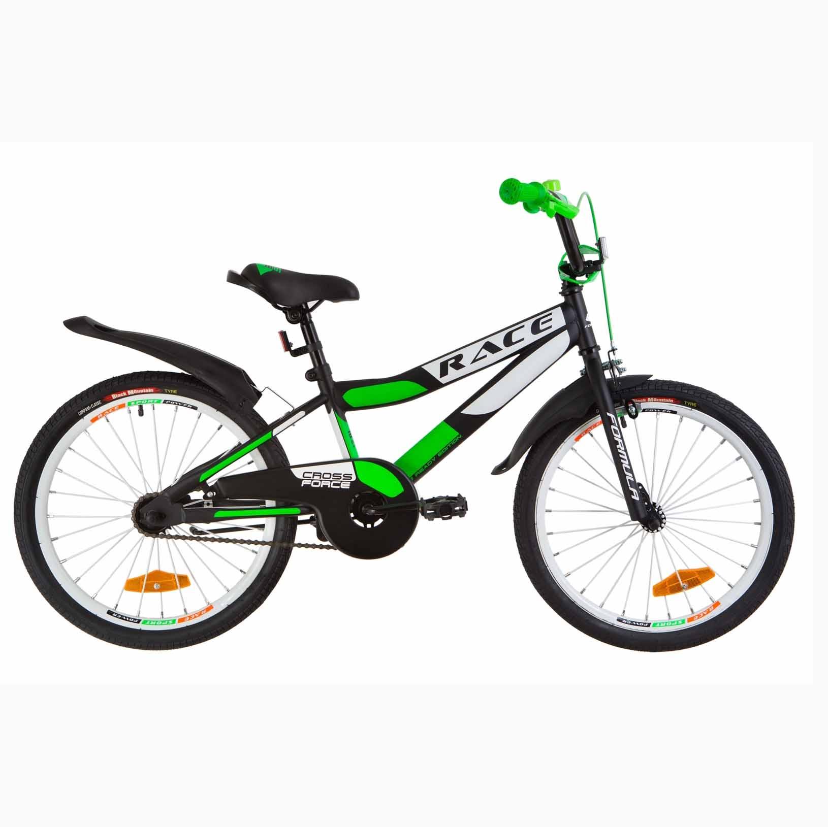 Фото Детский Велосипед 20 Formula RACE  усилен.  черно-салатный (м)  2019