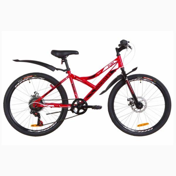 """Фото Подростковый  Велосипед 24 Discovery FLINT  DD  рама-14"""" красно-белый с черным  2019"""