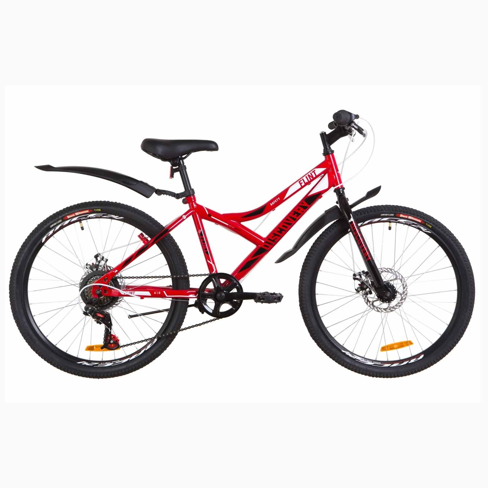Фото Подростковый  Велосипед 24 Discovery FLINT  DD  рама-14″ красно-белый с черным  2019