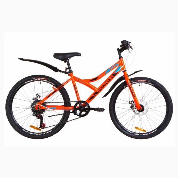 """Фото Подростковый  Велосипед 24 Discovery FLINT  DD  рама-14"""" оранжевый   2019"""