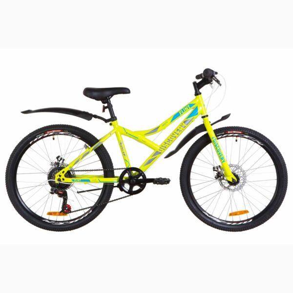 """Фото Подростковый  Велосипед 24 Discovery FLINT  DD  рама-14"""" салатно-синий с серым  2019"""