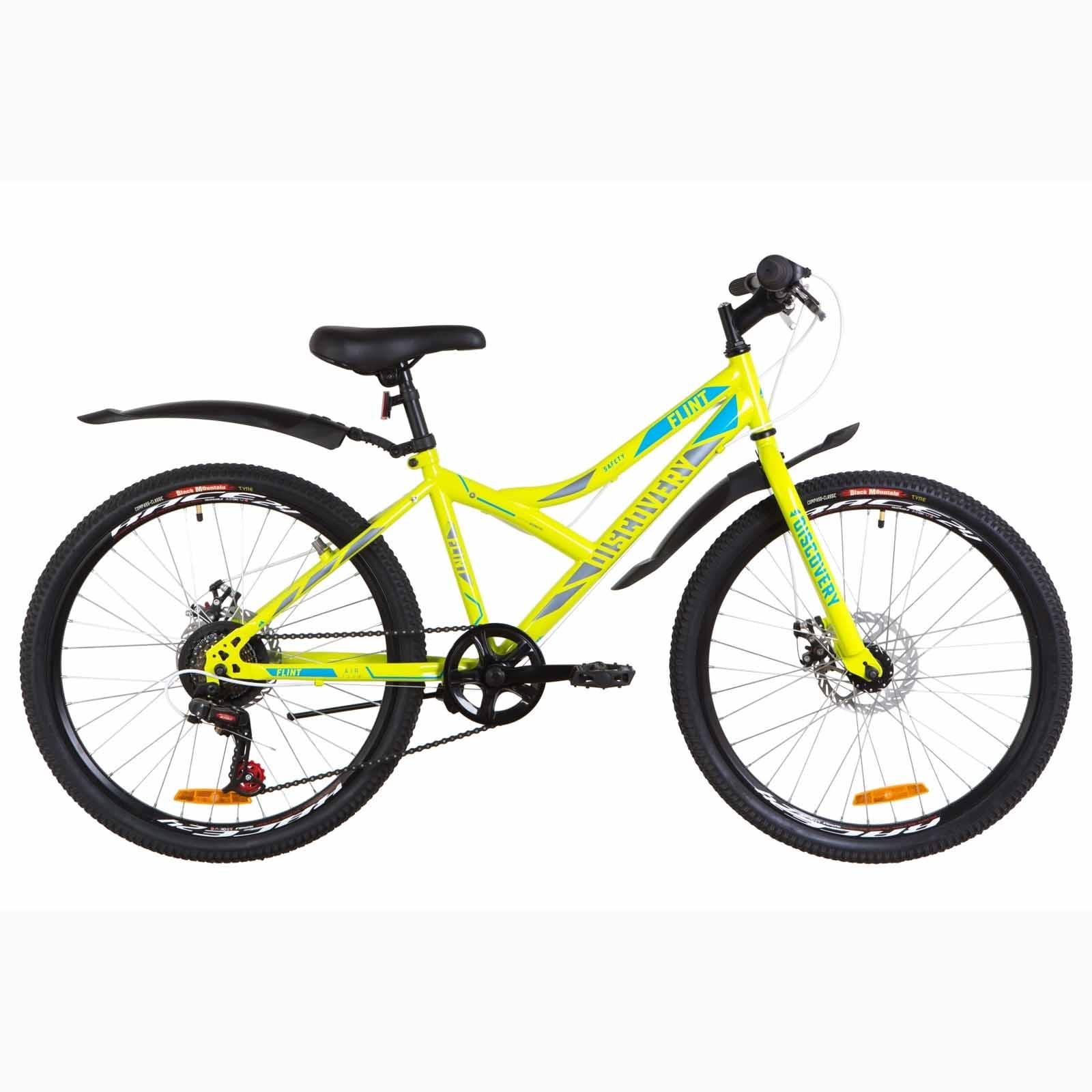 Фото Подростковый  Велосипед 24 Discovery FLINT  DD  рама-14″ салатно-синий с серым  2019