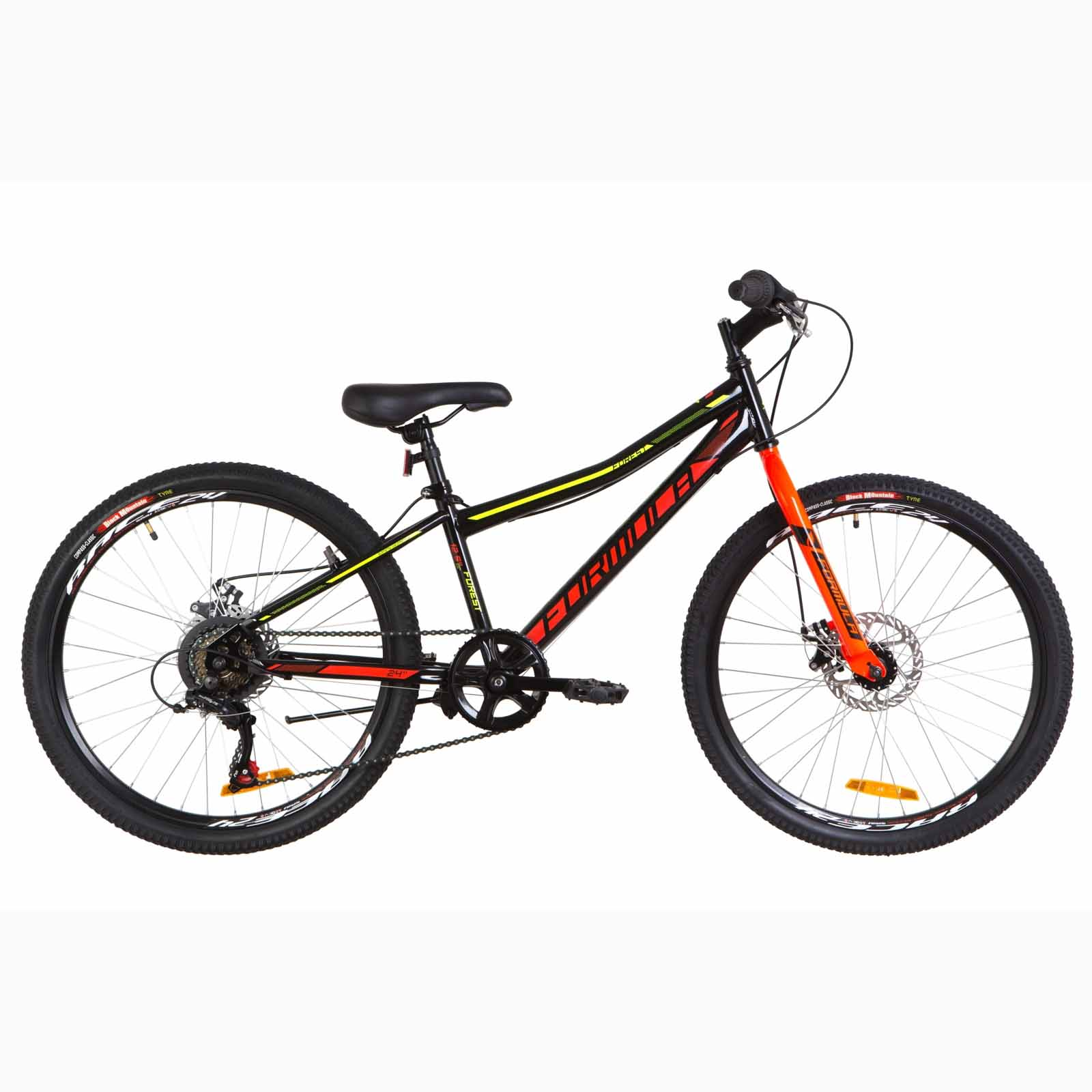 Фото Подростковый Велосипед 24 Formula FOREST DD  черно-красный с желтым 2019
