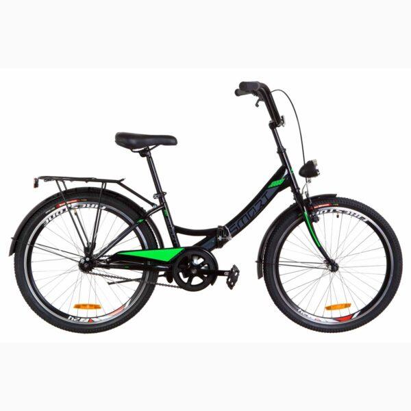 Фото Детский Велосипед 24 Formula SMART черно-салатный с фонарём 2019