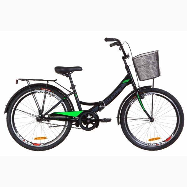 Фото Детский Велосипед 24 Formula SMART черно-салатный с корзиной 2019