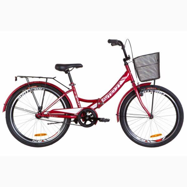 Фото Детский Велосипед 24 Formula SMART красный с корзиной 2019