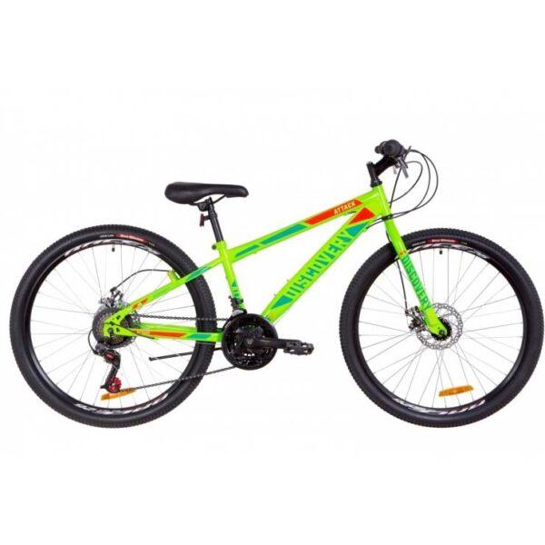 Фото Подростковый Велосипед 26 Discovery ATTACK  салатно-красный с бирюзовым 2019