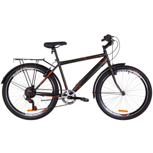 Фото Городской Велосипед 26 Discovery PRESTIGE MAN черно-оранжевый хаки (м) 2019