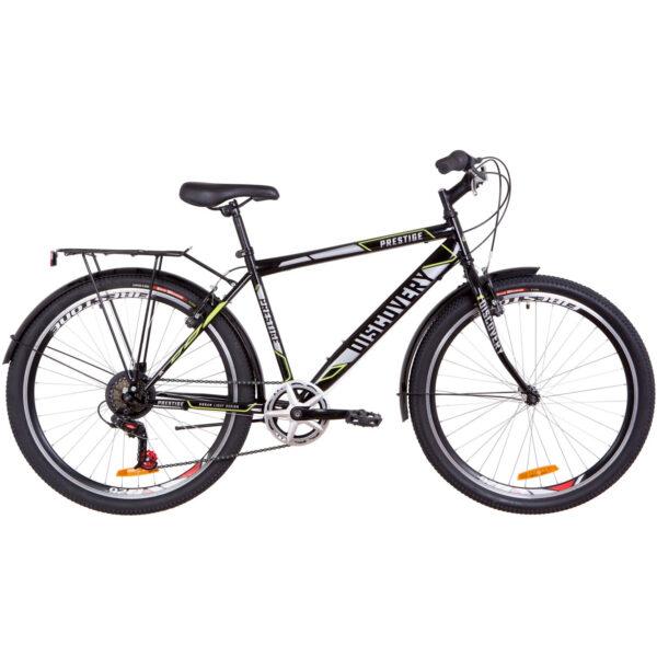 Фото Городской Велосипед 26 Discovery PRESTIGE MAN черно-серый с желтым  2019