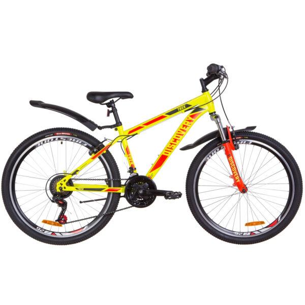 """Фото Подростковый Горный Велосипед 26 Discovery TREK рама-18""""  малахитовый с желтым (м) 2019"""