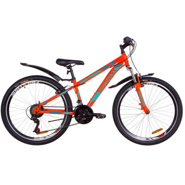 """Фото Подростковый Горный Велосипед 26 Discovery TREK рама-15""""  оранжево-бирюзовый 2019"""