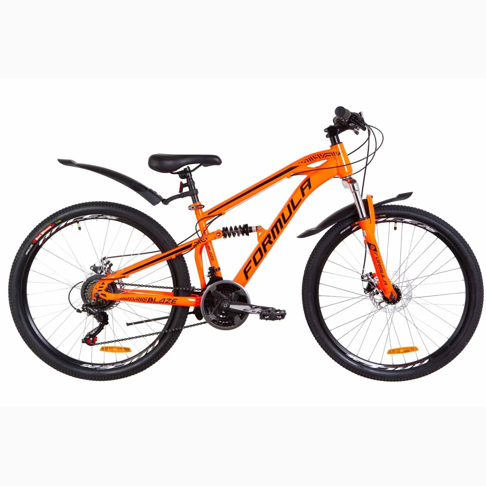 Фото Велосипед 26 Formula BLAZE DD  оранжевый   с крылом Pl 2019