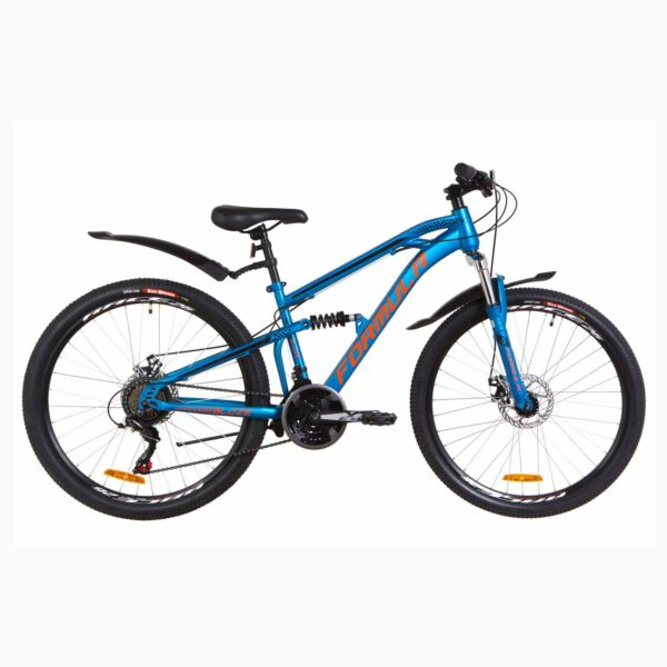 Фото Велосипед 26 Formula BLAZE DD  синий с оранжевым (м)  с крылом Pl 2019