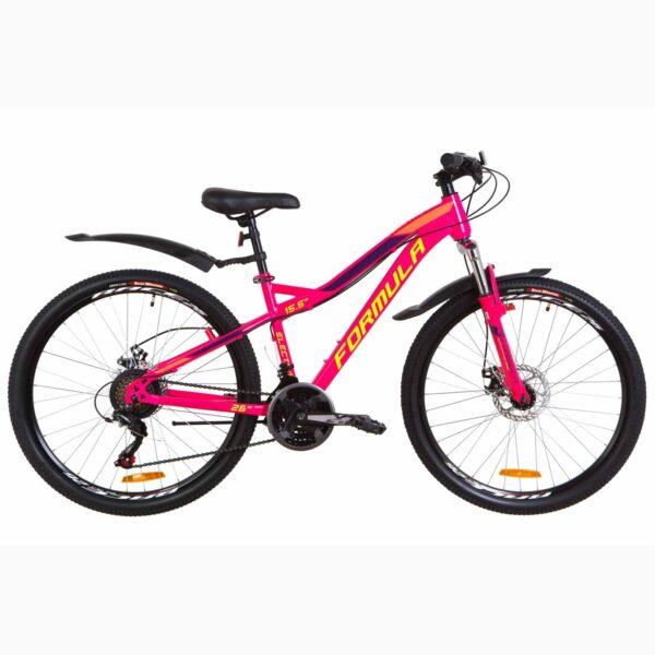 Фото Женский Горный Велосипед 26 Formula ELECTRA DD  малиновый с салатным 2019