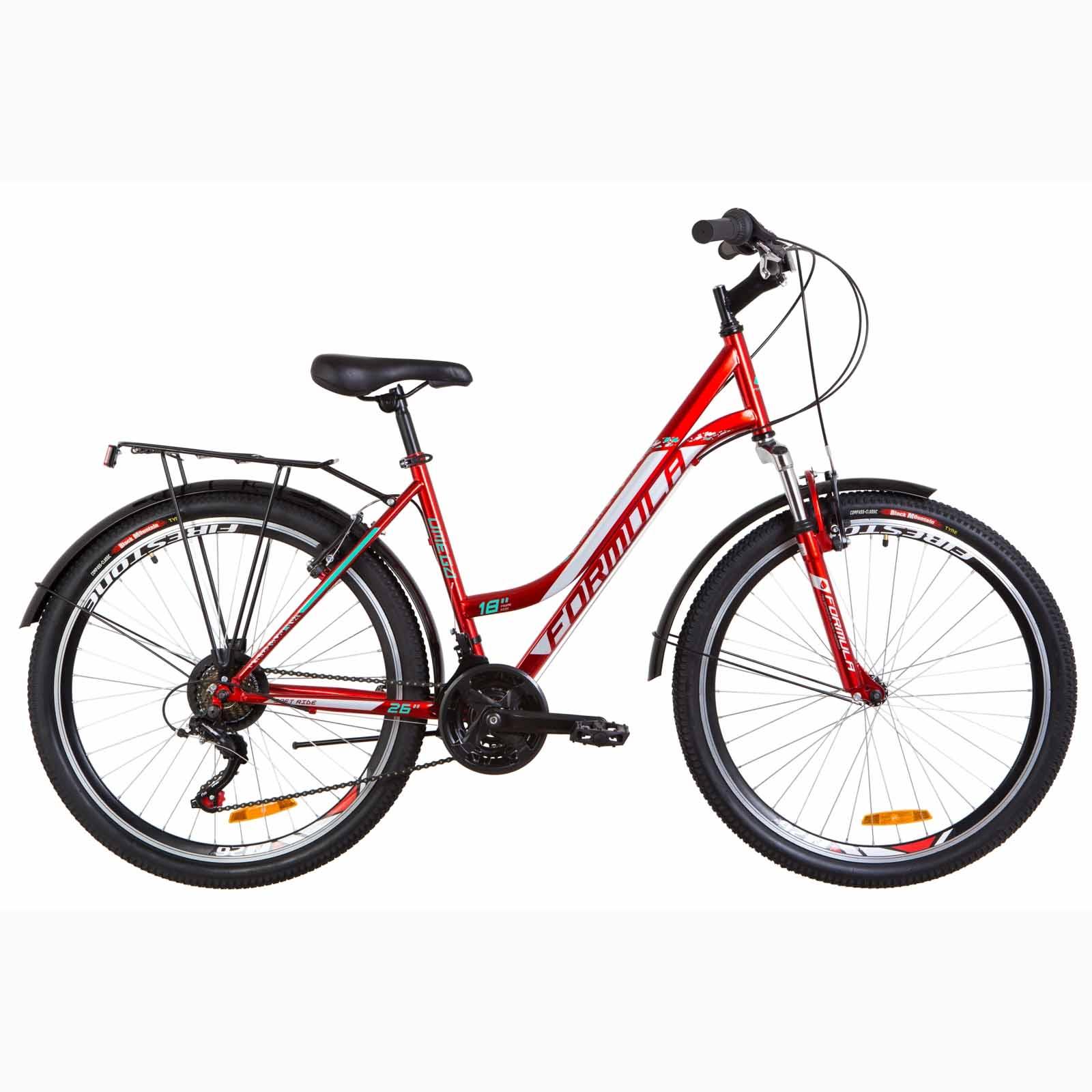 Фото Женский Городской Велосипед 26 Formula OMEGA красный  2019