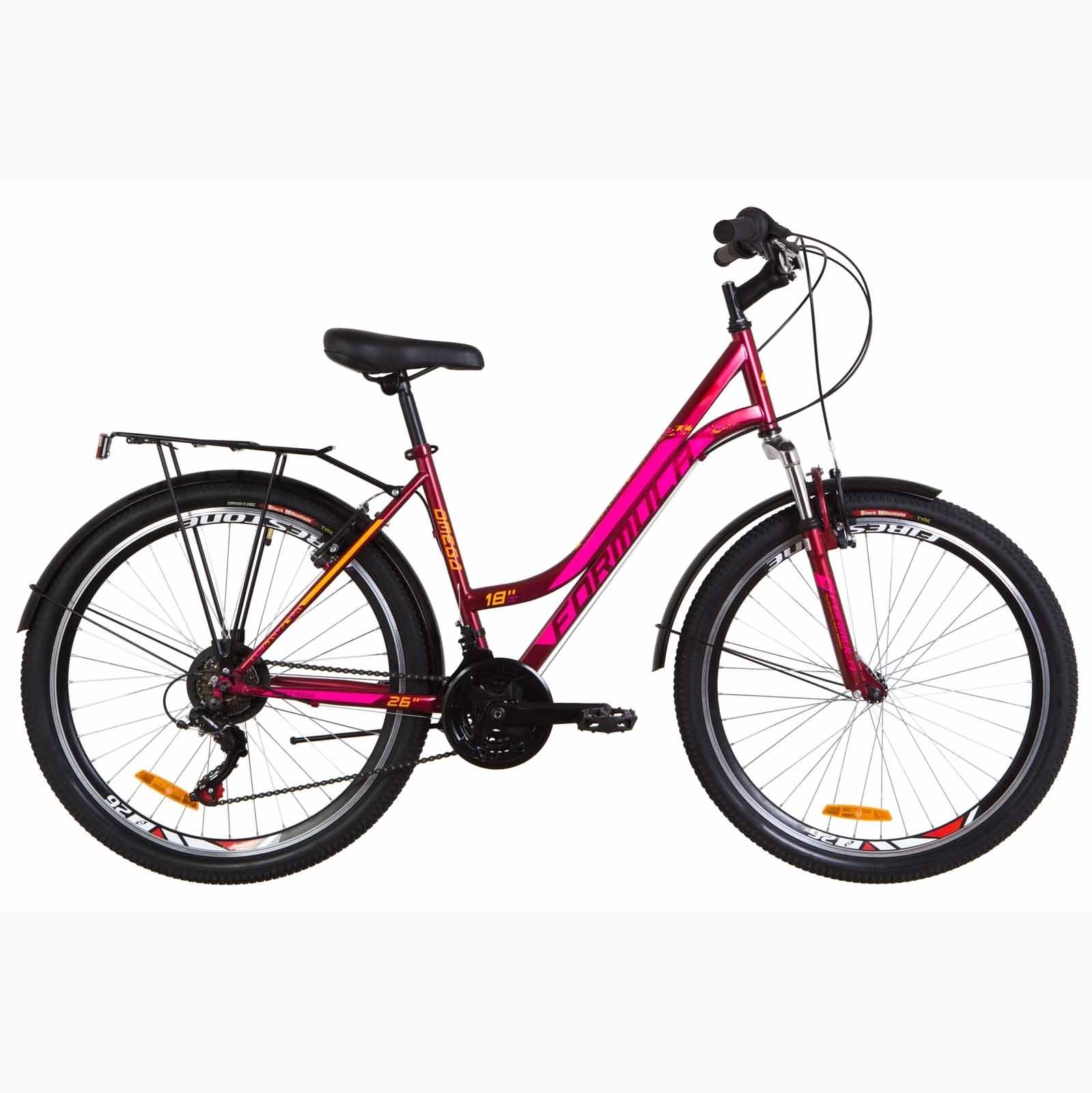 Фото Женский Городской Велосипед 26 Formula OMEGA   малиновый (м) 2019