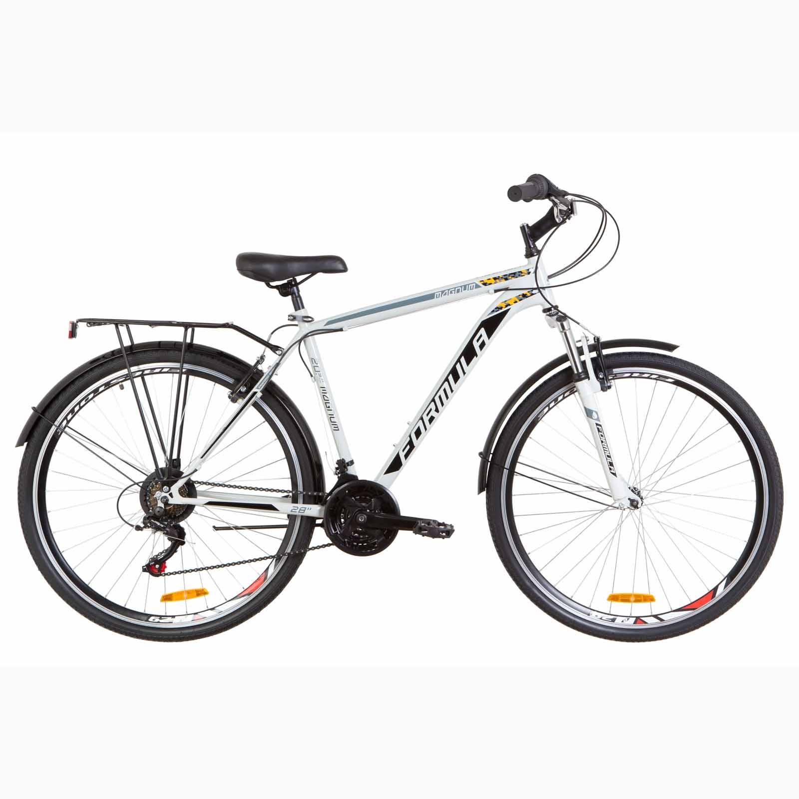 Фото Городской Велосипед 28 Formula MAGNUM серо-черный с -оранжевым 2019