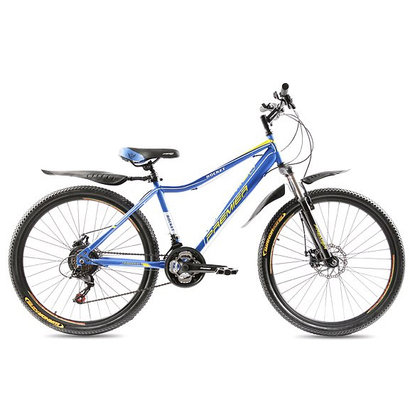 Фото Велосипед сталь Premier Rocket Disc 16″ голубой с желтым-белым