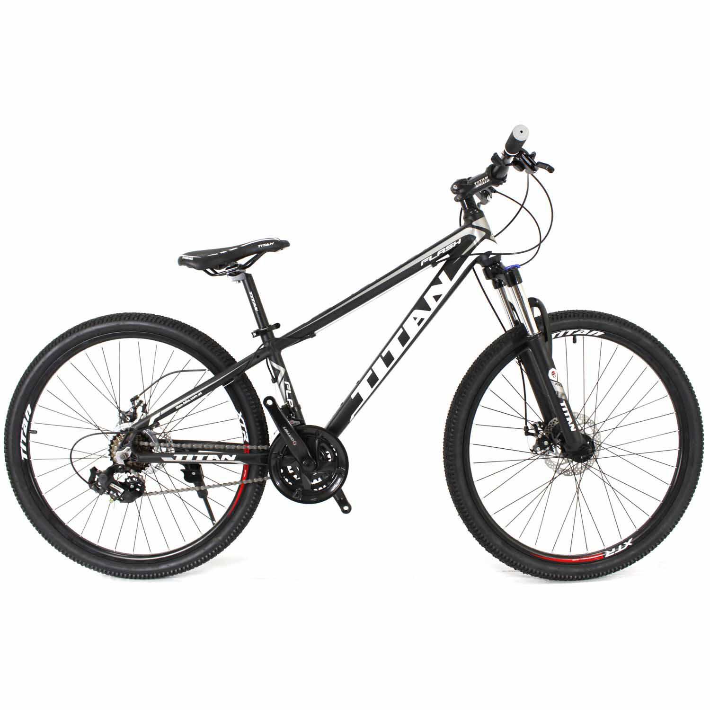 Фото Горный Велосипед Titan Flash 24 черно-бело-серый