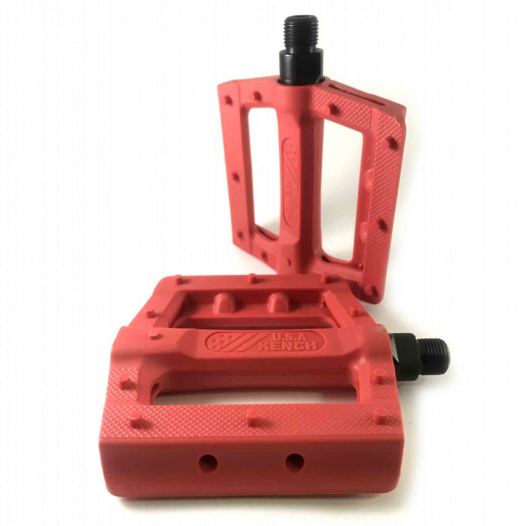 Фото Педаль нейлон-пластик с шипом красная