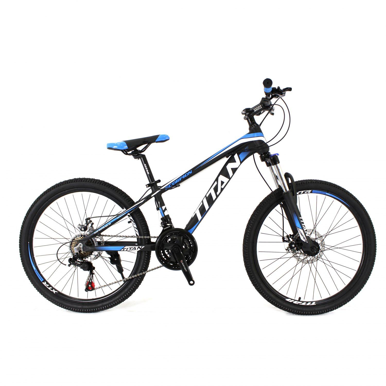 Фото Горный Велосипед Titan Scorpion 24″ черно-бело-синий