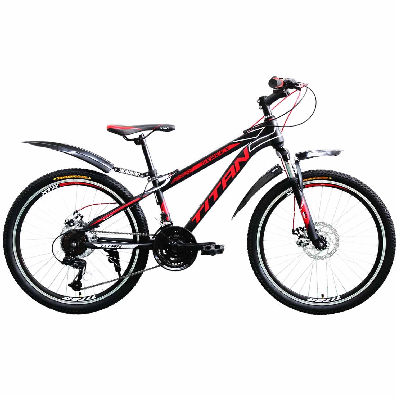 Фото Горный Велосипед Titan Street 24 черно-красно-белый