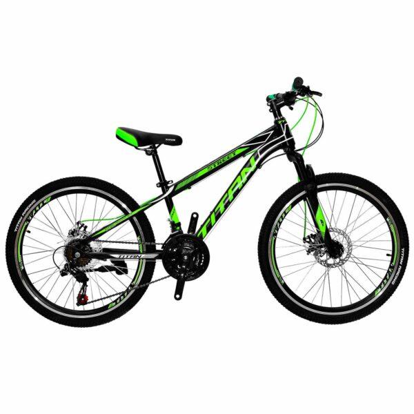 Фото Горный Велосипед Titan Street 24 черно-зелено-белый