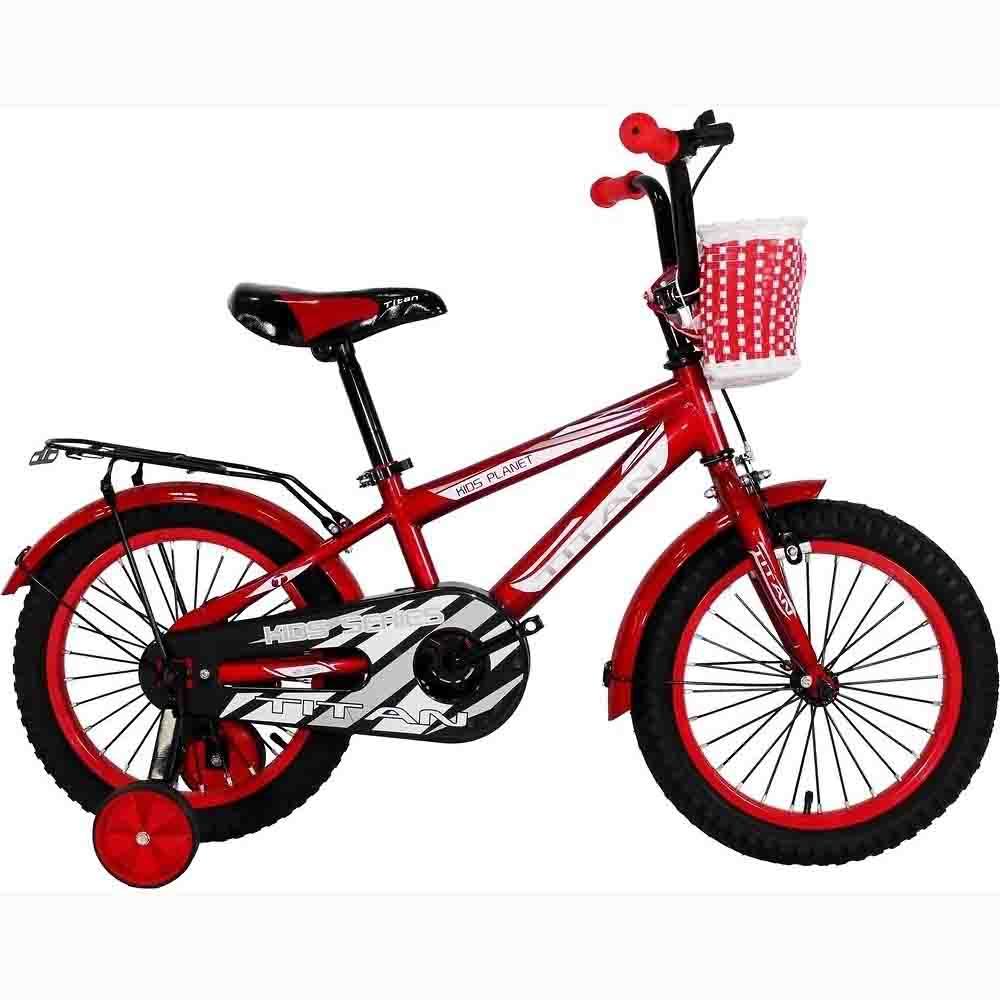 Фото Велосипед Titan BMX 16 красно-серо-белый