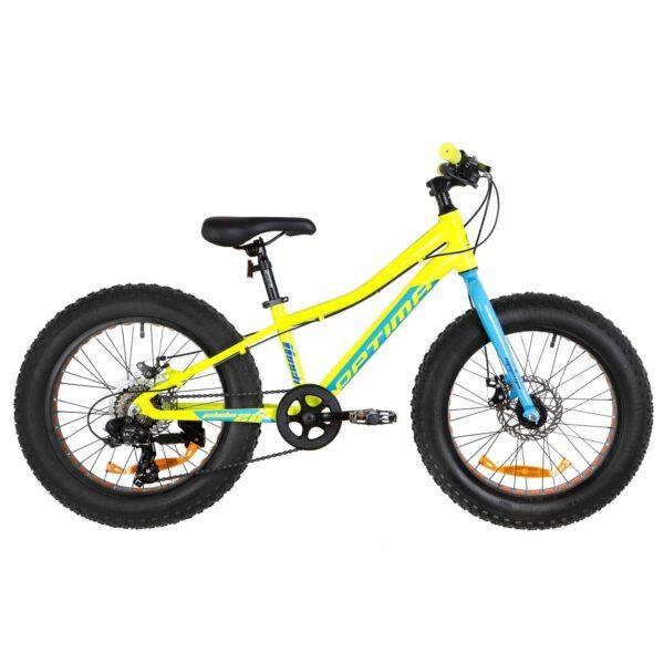 Фото Велосипед 20 Optimabikes PALADIN DD   желто-синий 2019