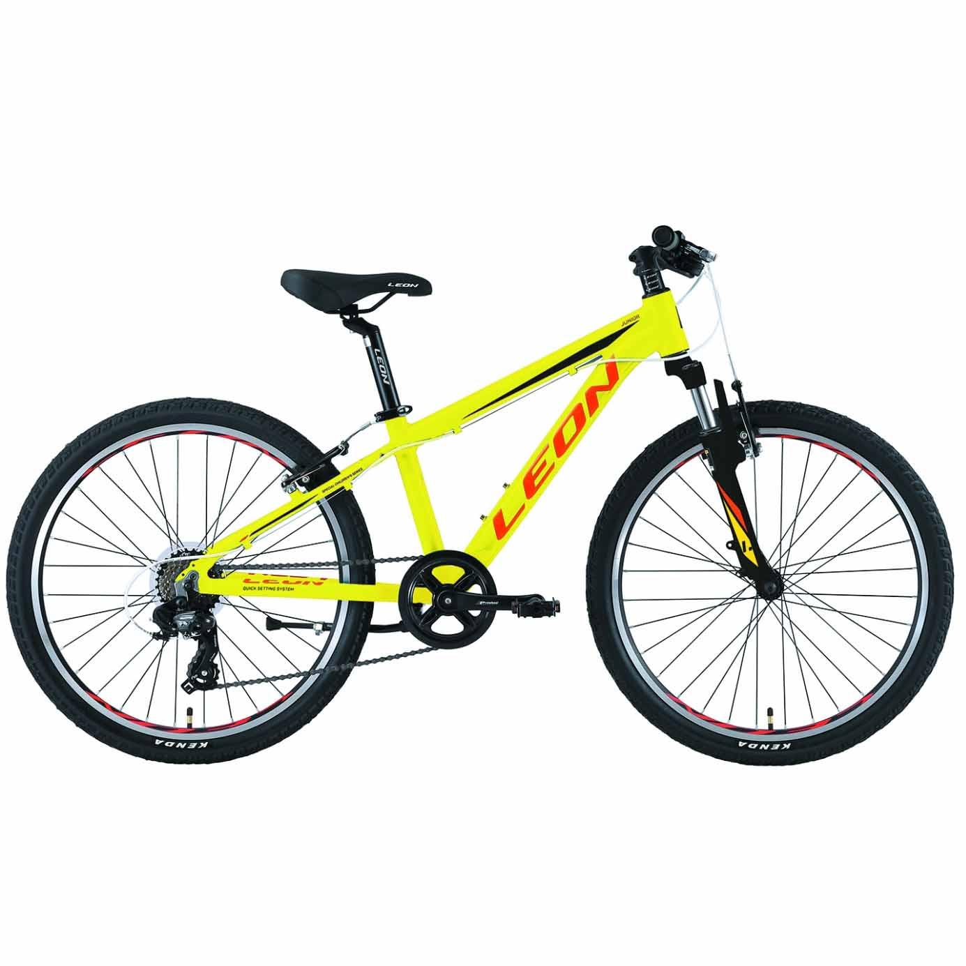 Фото Горный Детский Велосипед 24 Leon JUNIOR  салатно-оранжевый   2019