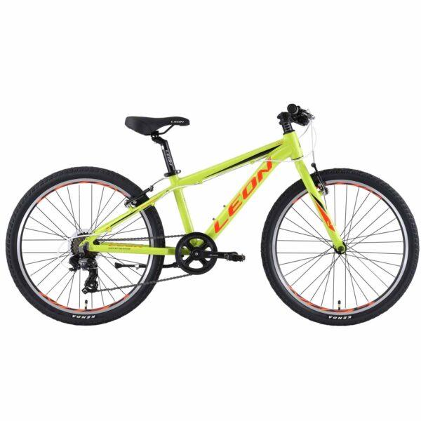 Фото Горный Детский Велосипед 24 Leon JUNIOR regid  салатно-оранжевый   2019