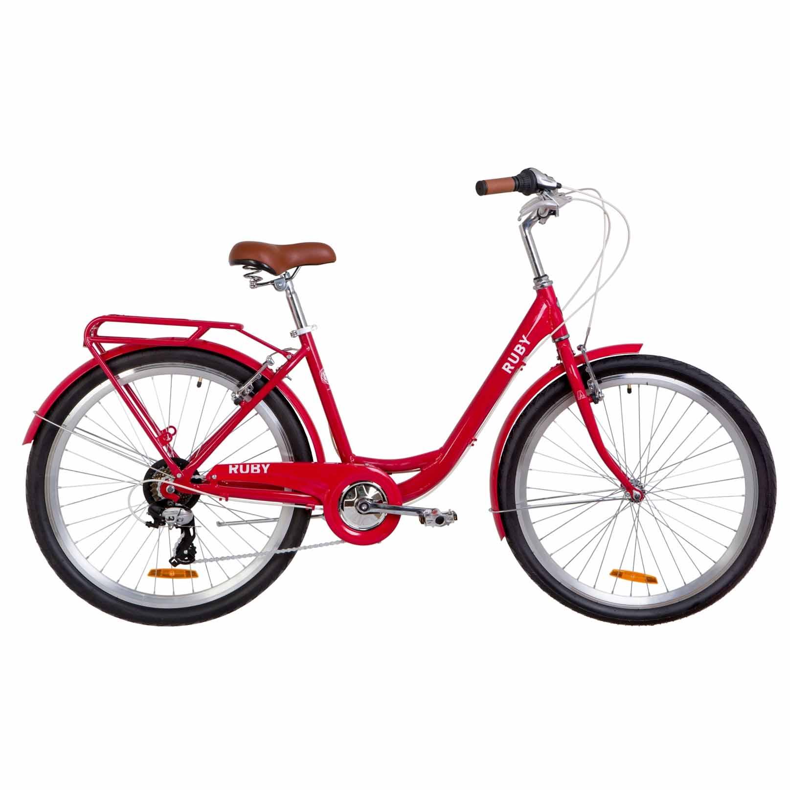 Фото Городской Женский Велосипед 26 Dorozhnik RUBY  красный   2019