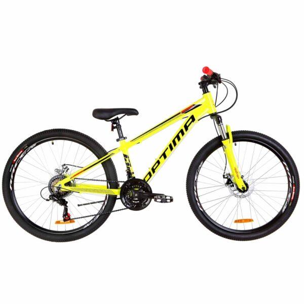 Фото Велосипед 26 Optimabikes MOTION DD желто-черный с оранжевым   2019