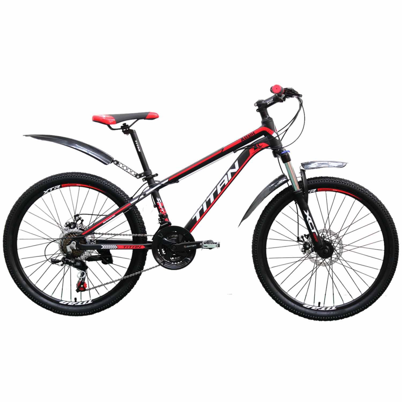 Фото Горный Велосипед Titan Atlant 24 черно-красно-белый