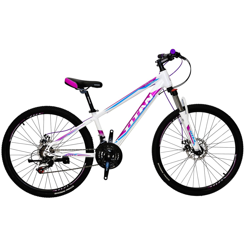 Фото Велосипед Titan 26″ Calypso Рама-13″ white-сrimson-blue, шт
