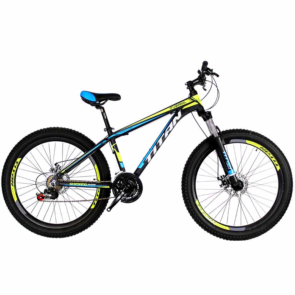 Фото Велосипед Titan Trail 26 черно-зелено-синий