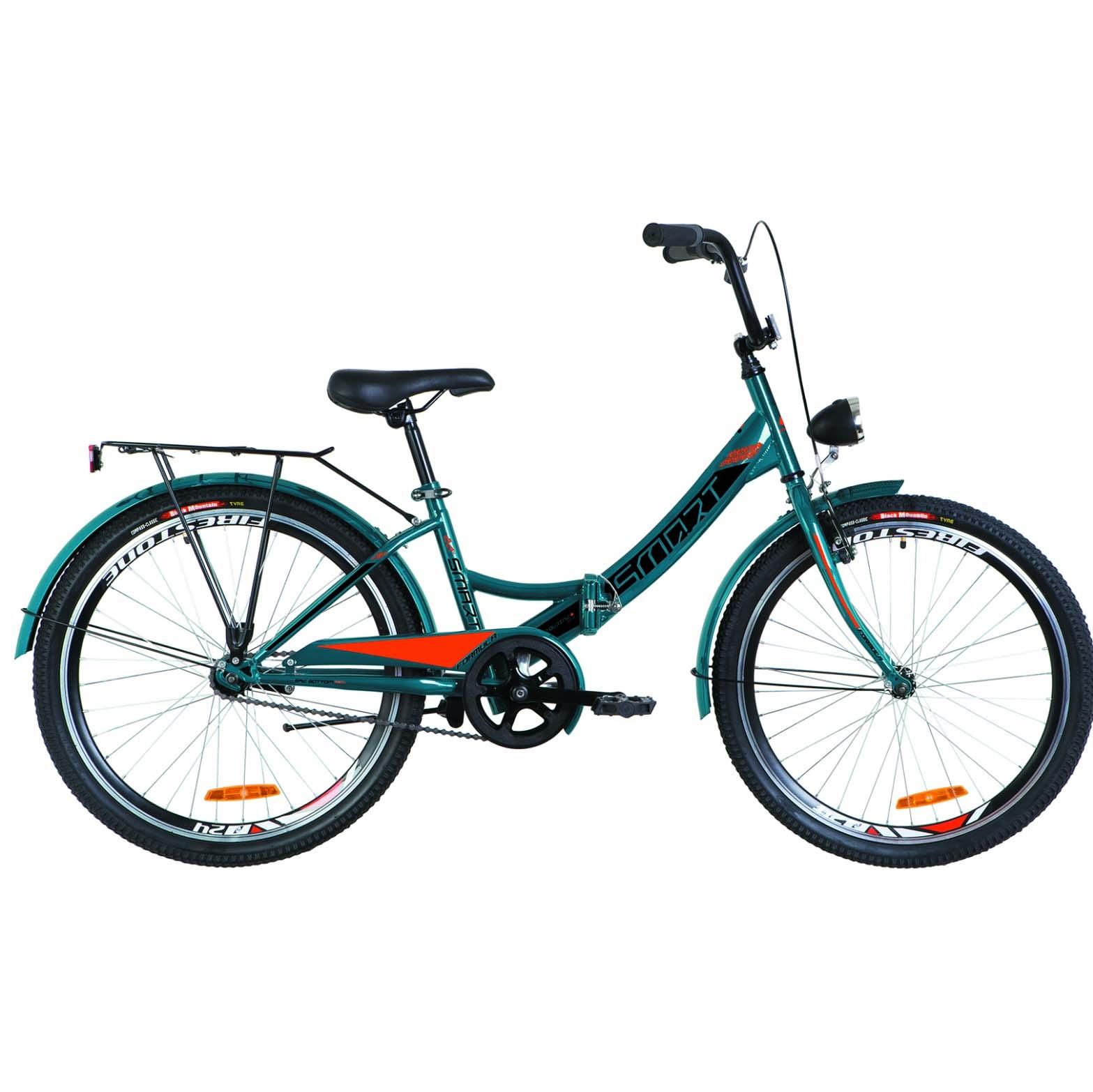 Фото Детский Велосипед 24 Formula SMART синий с оранжевым с фонарём 2019