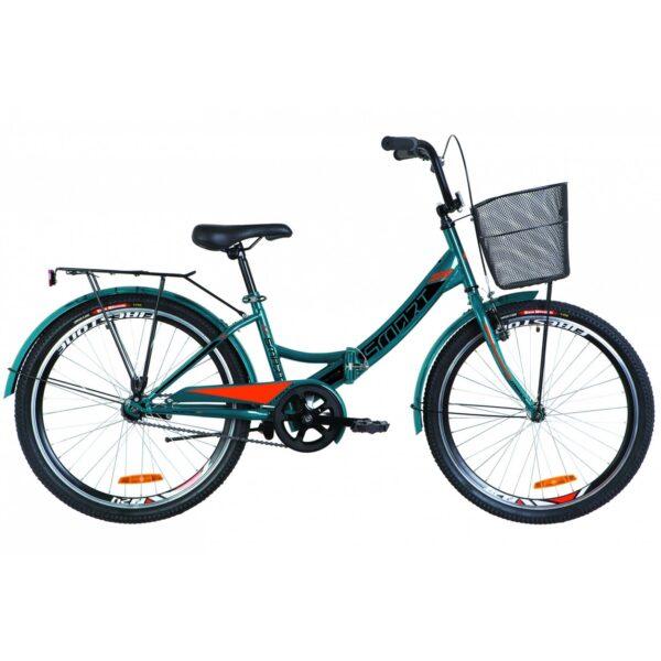 Фото Детский Велосипед 24 Formula SMART синий с оранжевым с корзиной 2019