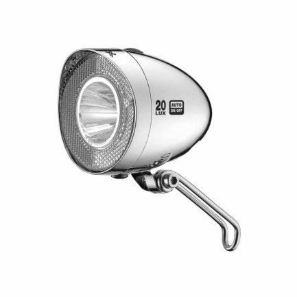 Фото Фара передняя XLC CL-D03 LED 20Lux Dynamo, серебристый