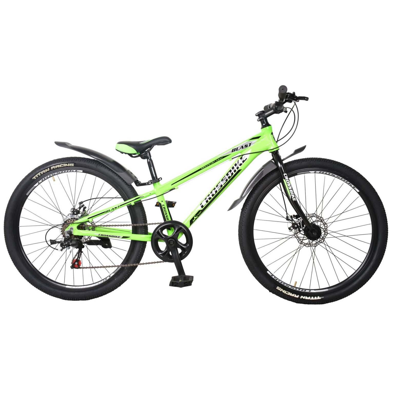 Фото Подростковый Велосипед Cross Blast 26 зелено-серо-черный